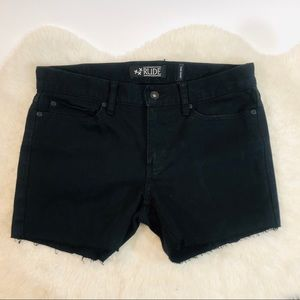 Handmade Super Skinny Cut Off Black Denim Shorts